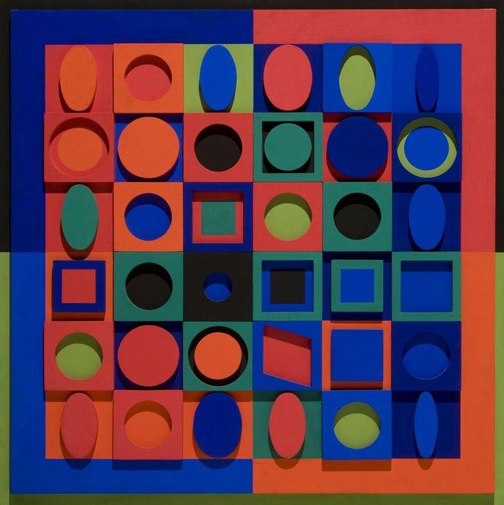 """""""Victor Vasarely - Relief Multicolor No. 2. (1967) """""""