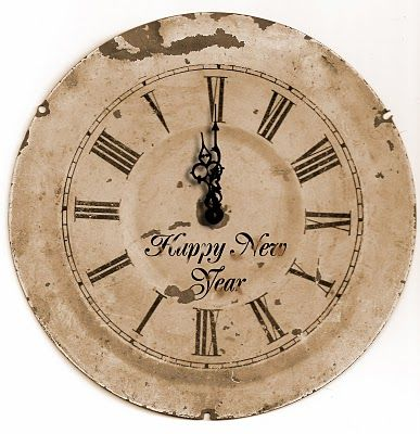 Happy New Year Clock download found via Be Different Act Normal