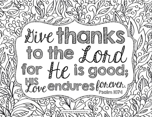 bible coloring pages thankfulness - photo#5