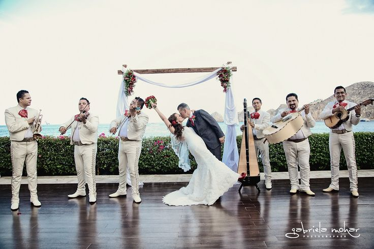 Claudia & Anthony Mexican wedding at Casa Dorada!  Mariachi, Tequila, and the Ocean!!