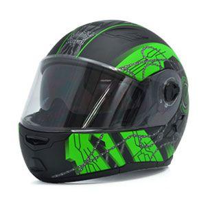 Mũ bảo hiểm lật cằm Royal M08 đen xanh lá nhám