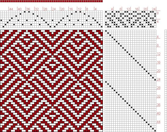 Hand Weaving Draft: 24217, 2500 Armature - Intreccio Per Tessuti Di Lana, Cotone, Rayon, Seta - Eugenio Poma, 8S, 24T - Handweaving.net Hand Weaving and Draft Archive
