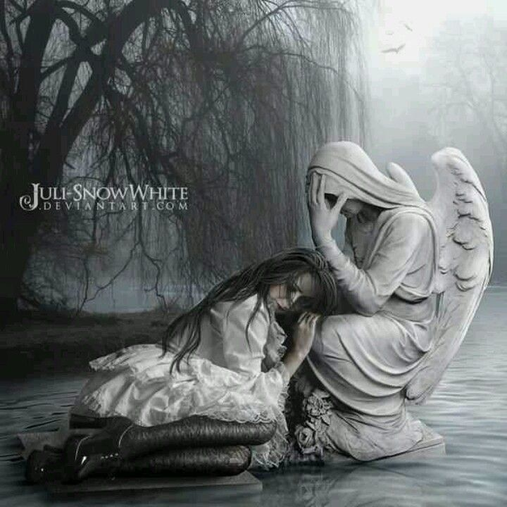 fantasy art angel sad -#main