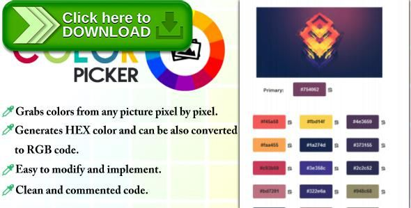[ThemeForest]Free nulled download Image Color Picker from http://zippyfile.download/f.php?id=45976 Tags: ecommerce, color, convertor, grab, grabber, hex, html, image, java, javascript, jquery, palette, picker, rgb, script