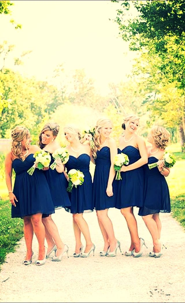 Like the flower color popping against the dress color. They do look nice, all…