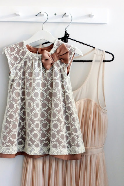 peasant dress, lace overlay, satin underlayer. Blessing dress?
