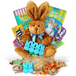 Classic Easter Basket This classic and beautiful Easter basket has all of the essential elements to create the perfect holiday gift! Complete with bright sweet candies, crisp handcrafted popcorn, and a gorgeous stuffed bunny, this exclusive GourmetGiftBaskets.com arrangement will make Easter morning absolutely unforgettable.  http://awsomegadgetsandtoysforgirlsandboys.com/creative-easter-basket-ideas/ Creative Easter Basket Ideas: Classic Easter Basket