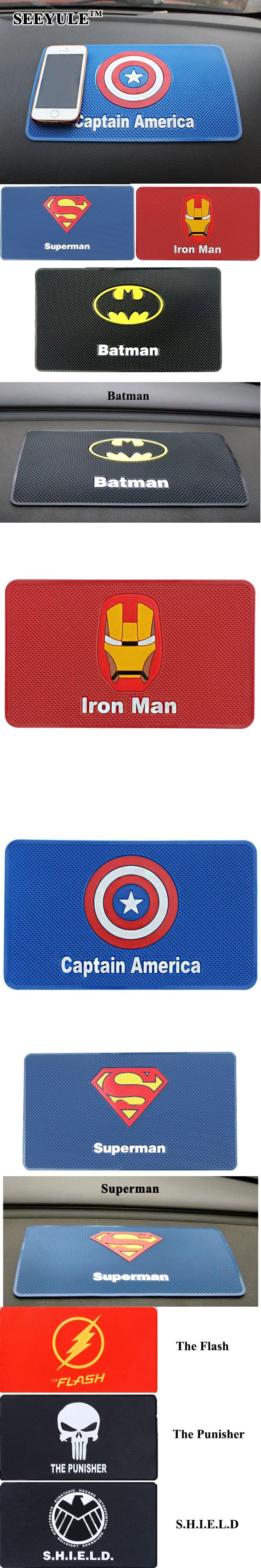 The 25 best iron man symbol ideas on pinterest iron man 1pc seeyule 265x15cm car anti slip mat superhero symbol iron man superman batman dashboard non biocorpaavc