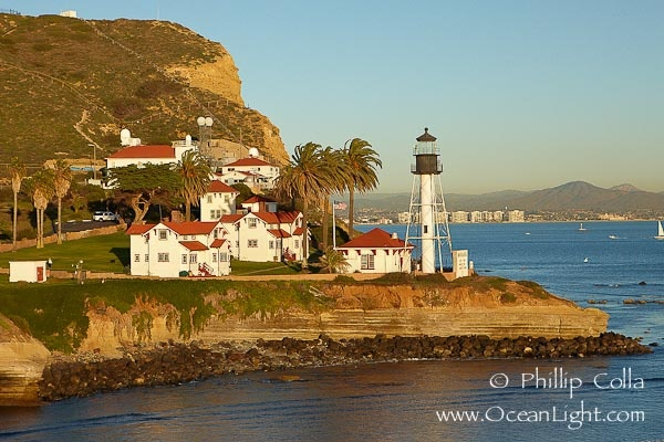 """The """"new"""" Point Loma lighthouse, San Diego. The old one is not active but can be visited as a museum"""