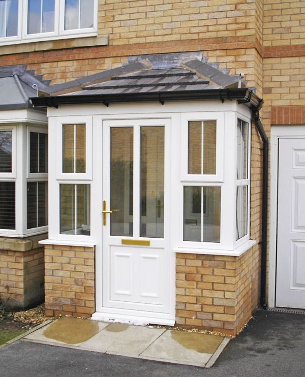 Front Door Porch Part - 31: Porches | Sheffield Window Centre | UPVC Windows, Doors, Conservatories,  Roofline And Stained