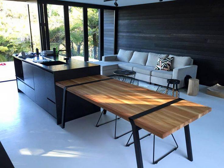 Table Pi2 - 200cm x 88cm Par Roderick Fry pour moaroom Table Bois Métal Design Contemporain Scandinave