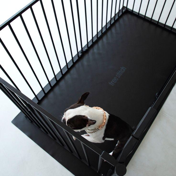楽天市場 犬 サークル サークル シート レクタングル L ホワイト ケージ ゲージ シート 簡単 かんたん ドッグ犬用品 サークル スタイリッシュ シンプル マット Free Stitch ゲージ 犬 犬 犬と暮らす家