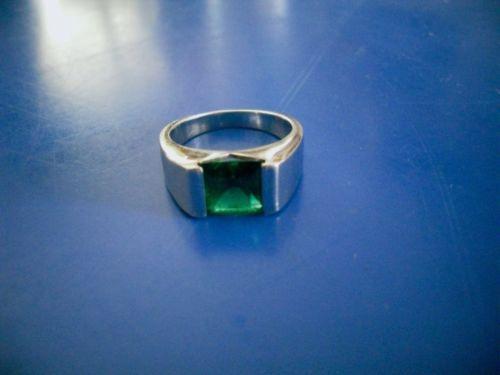 Russian Nano emerald mens ring size 7. Sold продано