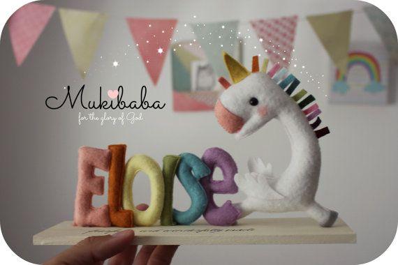 CUSTOM NAME UNICORN, princess nursery, unicorn, rainbow, custom baby name