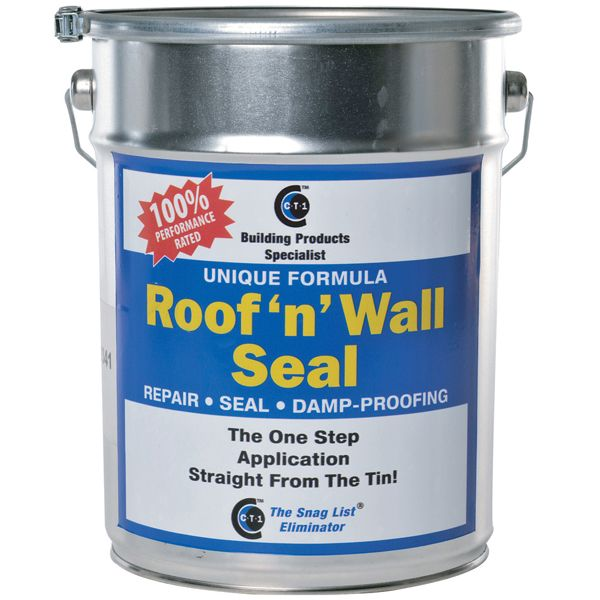 CT1Ltd's Roof n Wall Seal - Tin is a one coat paste with a unique formulation that will 100% seal all types of roofs and walls. Ideal for flat roof installations or repairs. For more In depth Information on Roof n Wall Seal - Tin visit http://www.ct1ltd.com/en/roof-n-wall-seal-tin.html