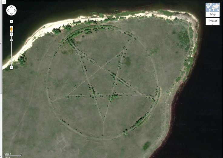 This strange pentagram, etched into the Earth's surface in a remote corner of Kazakhstan, can be seen on Google Maps.