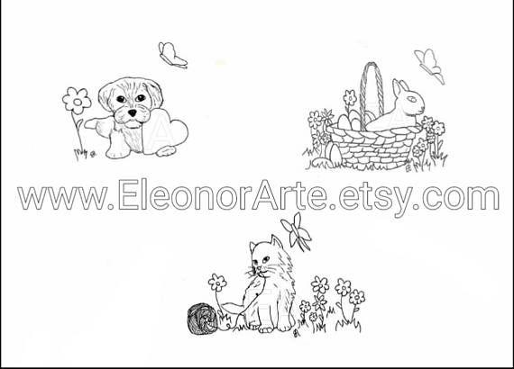 Download di disegni da stampare e colorare Cane con cuore