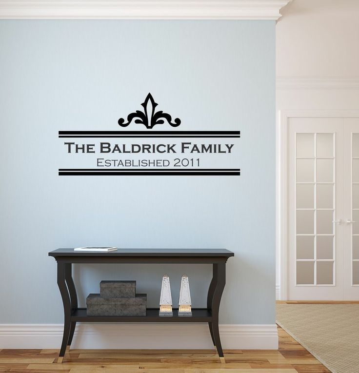 Family Name Custom Vinyl Wall Sticker