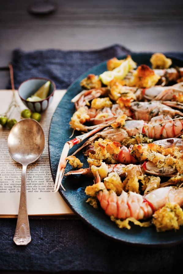Grilled Langoustines with Lemon and Dill