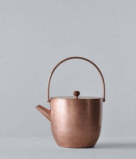copper tea pot /