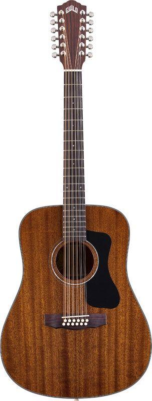 GUILD D 125 natural + etui - Guitares acoustiques - 12 cordes acoustique | Woodbrass.com