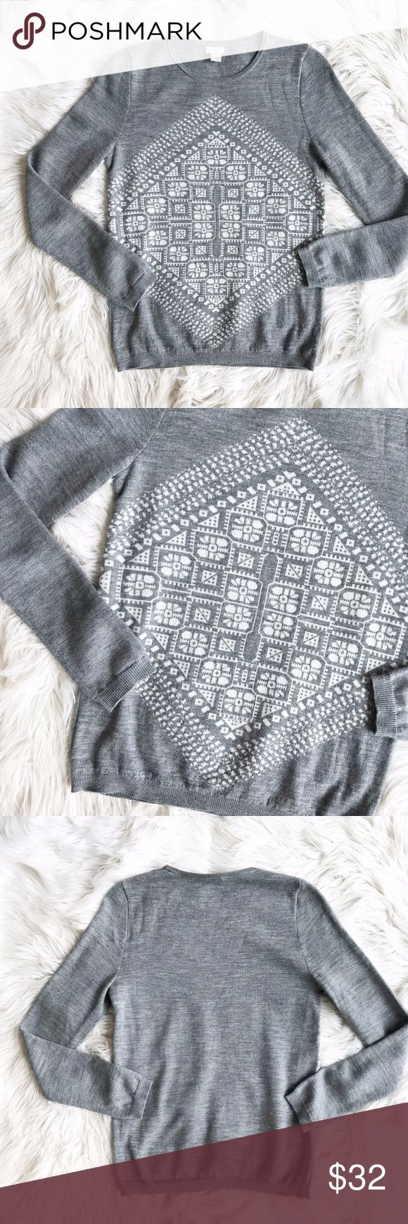 J. Crew Factory Aztec Tribal  Print Sweater Excellent condition J. Crew Factory Aztec Print Sweater. Very soft with Aztec print motif on front. Size XS. No trades, offers welcome. J. Crew Factory Sweaters Crew & Scoop Necks