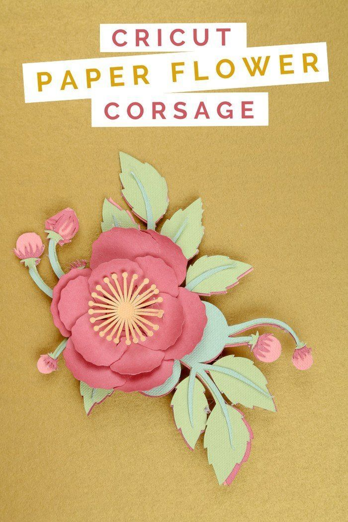 Paper Flower Corsage For Mother S Day Jewelry Paper Flowers
