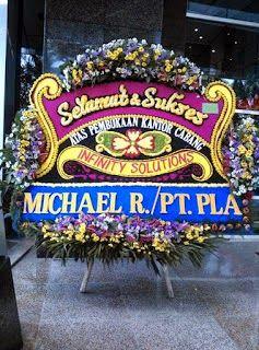 Karangan Bunga Papan Ucapan Selamat Peresmian Toko - Florist Jakarta