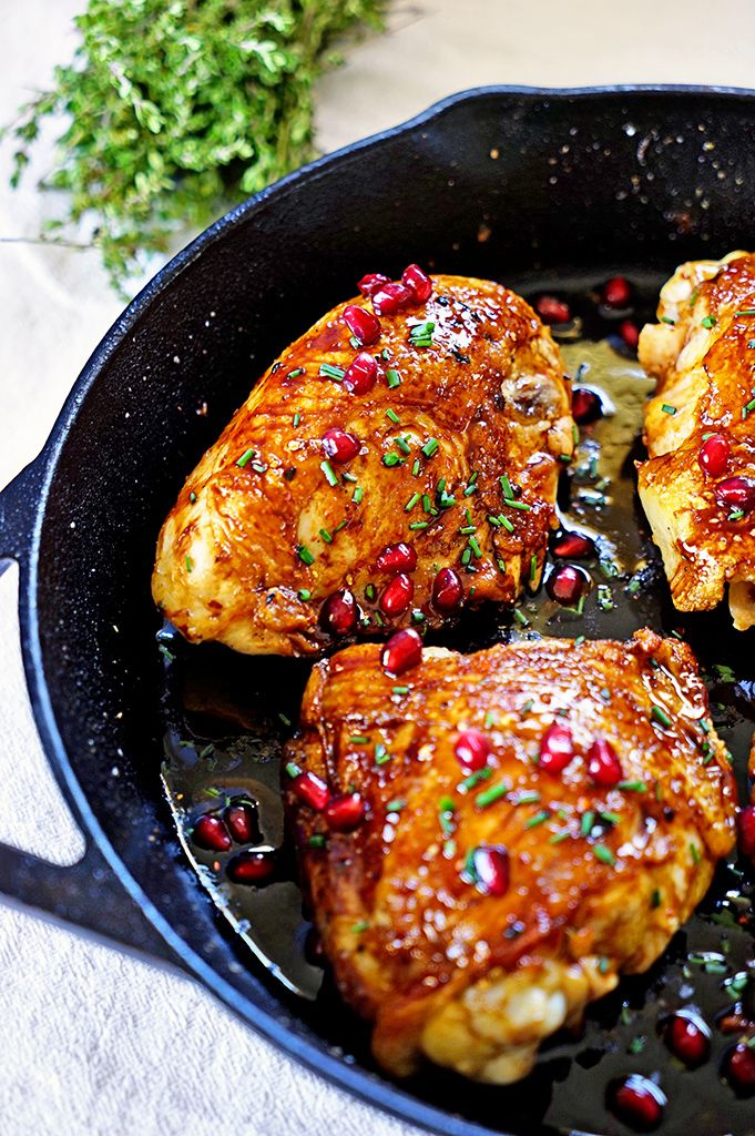 Jordanian Roasted Chicken with Pomegranate Molasses. www.keviniscooking.com