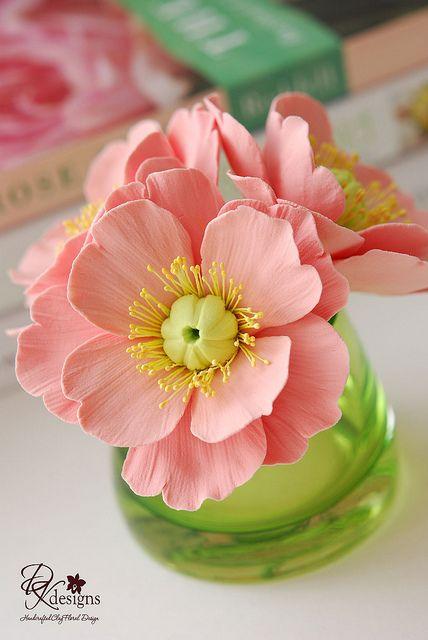 Diane Philips, dkdesign, clay flower arrangement!