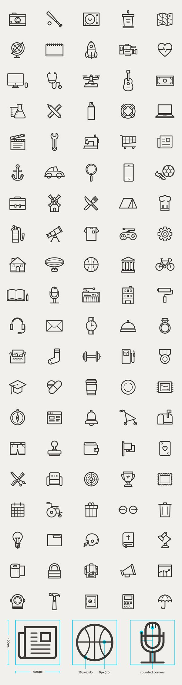 free_outline_icons_set_95_icons