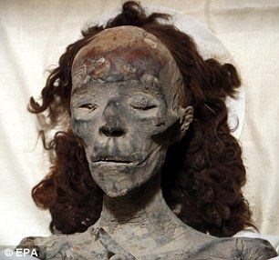 DNA testing has shown that Queen Tiye, whose mummy is pictured above, was the grandmother of the Egyptian Boy King Tutankhamun