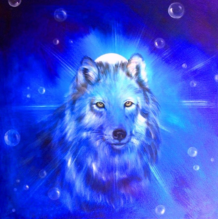 Stitch Wallpaper Iphone X Lovely Painting Image Of A Celestial Wolf Wolves Wolf