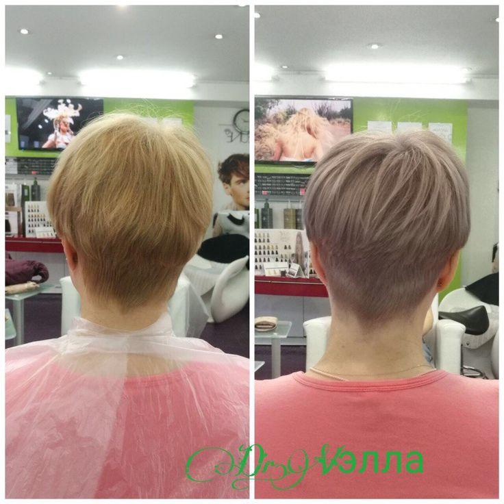Холодный #блонд + четкие линии в стрижке  http://v-ella.ru/ #тренд #Весна- время перемен! #окрашивание #keunesemicolor #bondfusion