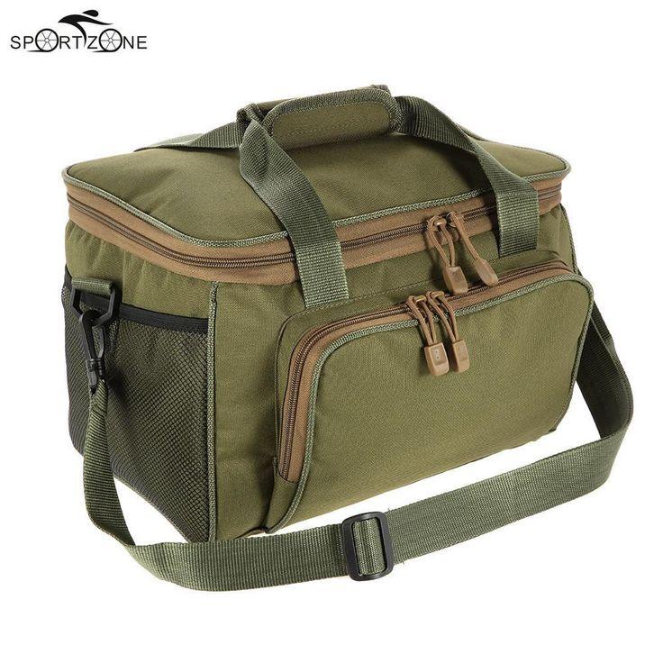 37*25*25cm Men Fishing Bag Canvas Multifunctional Waist Shoulder Bag Outdoor Fishing Reel Lure Storage Bags Fishing Tackle Pesca