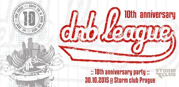 Značka DNB LEAGUE letos slaví 10 let od svého založení! Velká výroční party se uskuteční v pátek 30.10.2015 v pražském klubu Storm a to na dvou stagích.    akce: https://www.facebook.com/events/272233076280793/