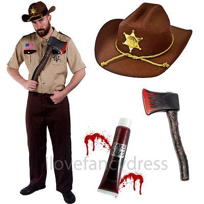 Us #sheriff costume #halloween zombie hunter fancy dress american #police officer,  View more on the LINK: http://www.zeppy.io/product/gb/2/301760283062/