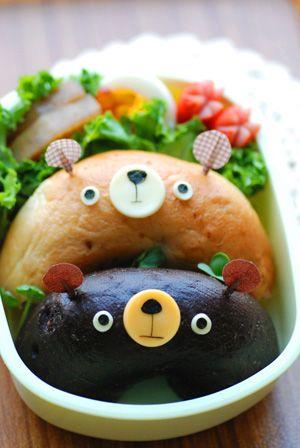 くまベーグルなお弁当 - てしぱんさんの簡単かわいいおべんとさん レシピブログ - 料理ブログのレシピ満載!