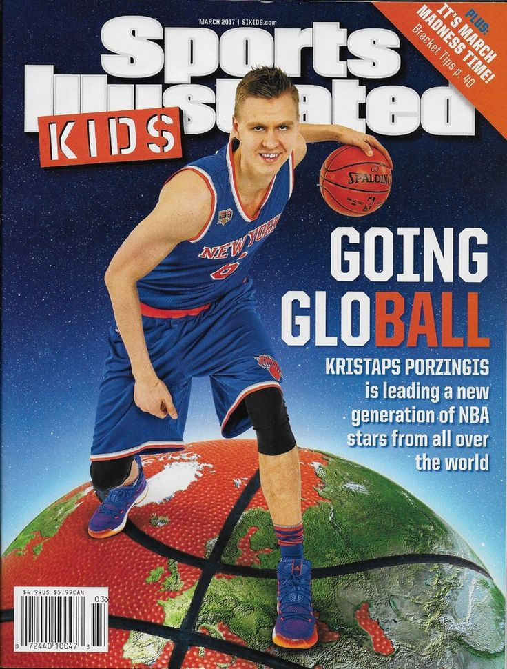 Sports Illustrated Kids magazine Kristaps Porzingis Basketball March madness