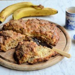 Banana Bread Scones with Brown Sugar Glaze - delicious banana bread ...