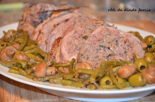roti de dinde roulée farcie au veau,voilà un savoureux plat,facile à réaliser qui présente bien et qui a bien entendu toujours un succès fou!