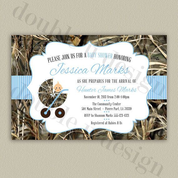 Camouflage Baby Shower Invitation - Printable - by double u design on etsy (with color options!)