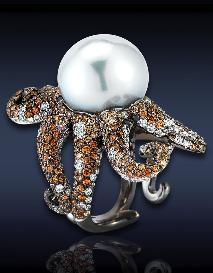 91123718Rings Animal, Cocktails Rings, Animal Jewelry, Pearls Octopuses, 91123718, Sea Pearls, Octopuses Rings, Accessories, Engagement Rings