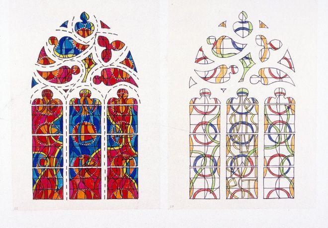 Estudio para la vidriera de la Zarza Ardiente – Moisés.  www.sergiodecastro.org
