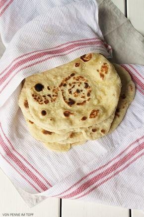 Penne im Topf: Indisches Naan - Brot- Werde das mal mit Kichererbsenmehl ausprobieren!