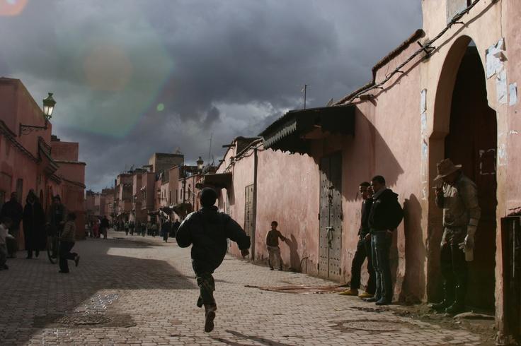 Souk des tanneurs à Marrakech — janvier 2010