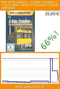 Best of Simulations : U-Bahn Simulator 2 : Gold Edition (World of Subways) [import allemand] (Jeu informatique). Réduction de 66%! Prix actuel 21,63 €, l'ancien prix était de 64,38 €. https://www.adquisitio.fr/rondomedia/best-of-simulations-u