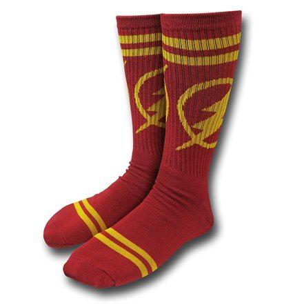 The Flash TV Series Symbol Crew Socks