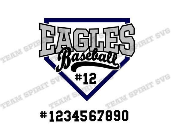 Eagles Baseball Base SVG Download Files Baseball Swoosh svg