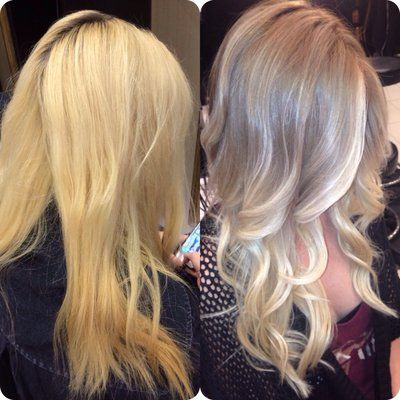 Before and After. Color correction and extensions by Traylene! | Yelp